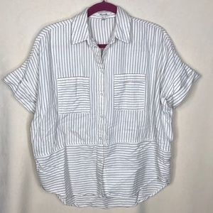 Madewell Flannel Courier Shirt Stripes